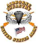 Army - Airborne Infantry - US Flag