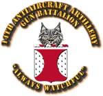 COA - 14th Antiaircraft Artillery Gun Battalion