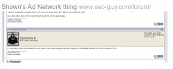 Shawn's Ad Network thing - SEO Guy