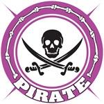 Purple Pirate Skull and Swords