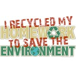 Recycled Homework T-Shirts and Gifts