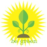 Be Green Plant T-Shirts and Gifts