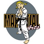 Martial Arts Girl T-Shirts and Gifts