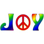 Rainbow Joy Peace Sign