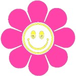 Hot Pink Smiley Flower