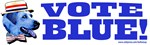 Vote Blue Dem Dog Gift Shop