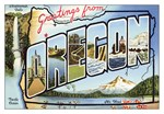 Oregon Vintage Postcard
