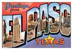 El Paso TX Vintage Postcard