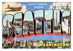 Seattle Vintage Postcard