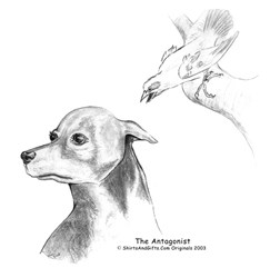 The Antagonist, Doberman And Bird Art Gifts