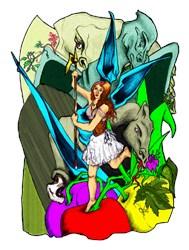 Dragon Fruit Fairy Fantasy Art Gifts
