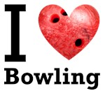 I Love Bowling with ball
