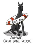 Support Great Dane Rescue (Black)
