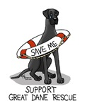Support Great Dane Rescue (Black nat)