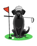 Golf Cartoon Dog