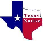 Texas Native Flag Map