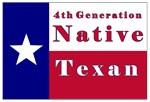 4th Generation Native Texan Flag
