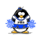 Blue CheerLeader Penguin