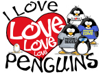 I Love Love More Penguins