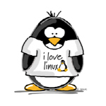 love linux Penguin