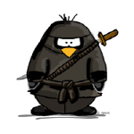 Martial Arts ninja penguin
