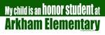 Honor student at Arkham elementary
