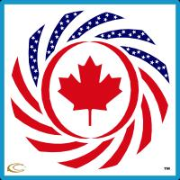 Canadian American Multinational Patriot Flag