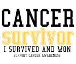 Cancer Survivor T-Shirts (Gold)