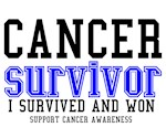 Cancer Survivor T-Shirts (Blue)