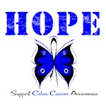 Hope Butterfly Colon Cancer Shirts &amp; Gifts