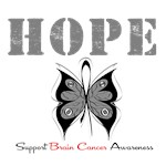 Hope Butterfly Brain Cancer Shirts &amp; Gifts