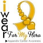 Appendix Cancer Hero Ribbon Shirts & Gifts