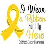 I Wear a Ribbon For My Hero Childhood Cancer Shirt
