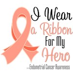 I Wear Ribbon For My Hero Endometrial Cancer Tees