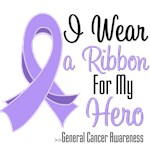 I Wear a Ribbon For My Hero General Cancer Shirts