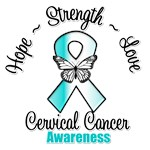 Hope Love Strength Cervical Cancer Shirts
