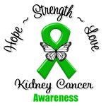 Kidney Cancer Hope Love Strength Shirts