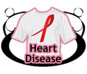 Heart Disease T-Shirts Apparel Buttons