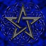 Black and Blue Celtic Pentagram