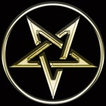 Inverted Gold Pentacle