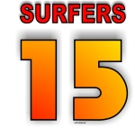 SURFERS TEAM numbered Jerseys