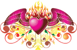 Winged Buring Heart
