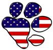 Patriotic Paw Print
