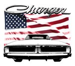 1969 Dodge Charger US flag