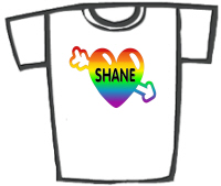 Shane - Rainbow Love Heart T-Shirts & Gifts