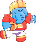 Lil Blue Elephant Football