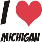 I LOVE MICHIGAN Products & Designs