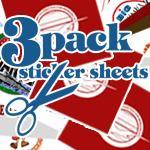 3 Pack Sticker Sheets