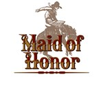 Maid of Honor Western T-Shirts