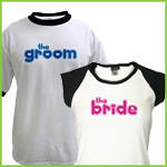 Bride and Groom Hearts T-Shirts